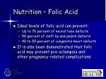 nutrition folic acid25
