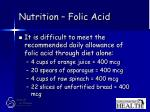 nutrition folic acid29