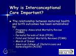 why is interconceptional care important8