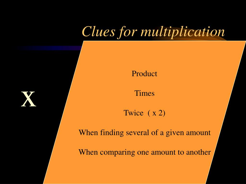 Clues for multiplication