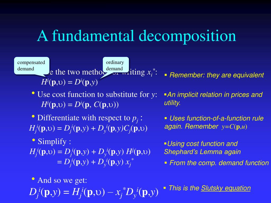 A fundamental decomposition