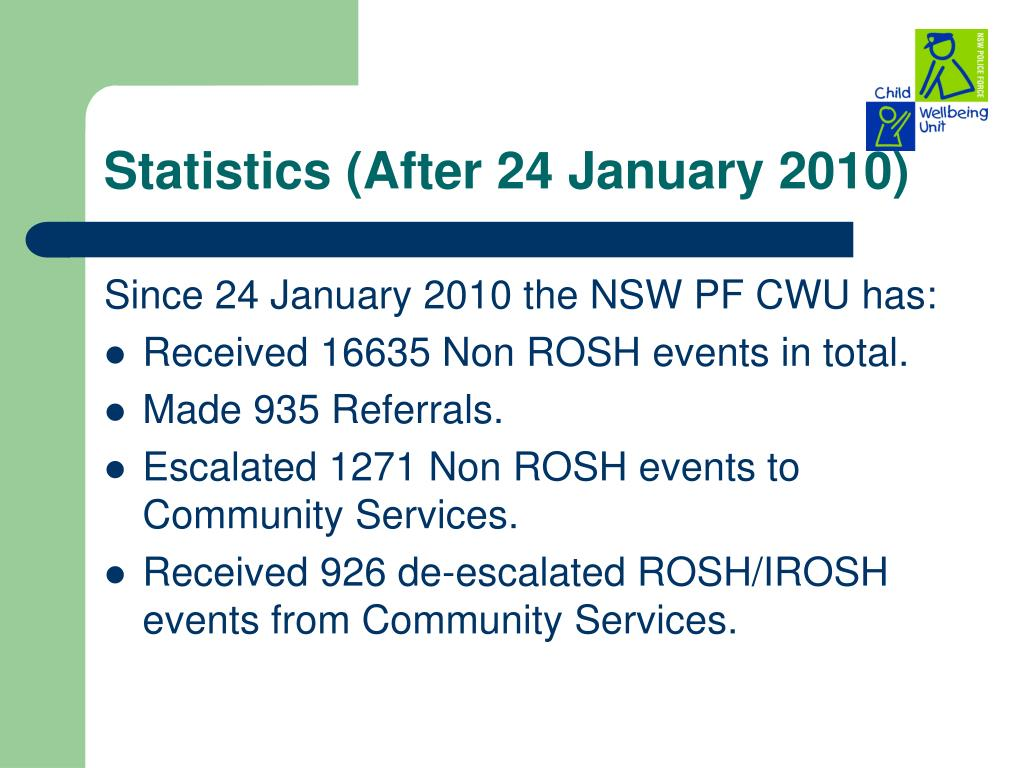 Statistics (After 24 January 2010)
