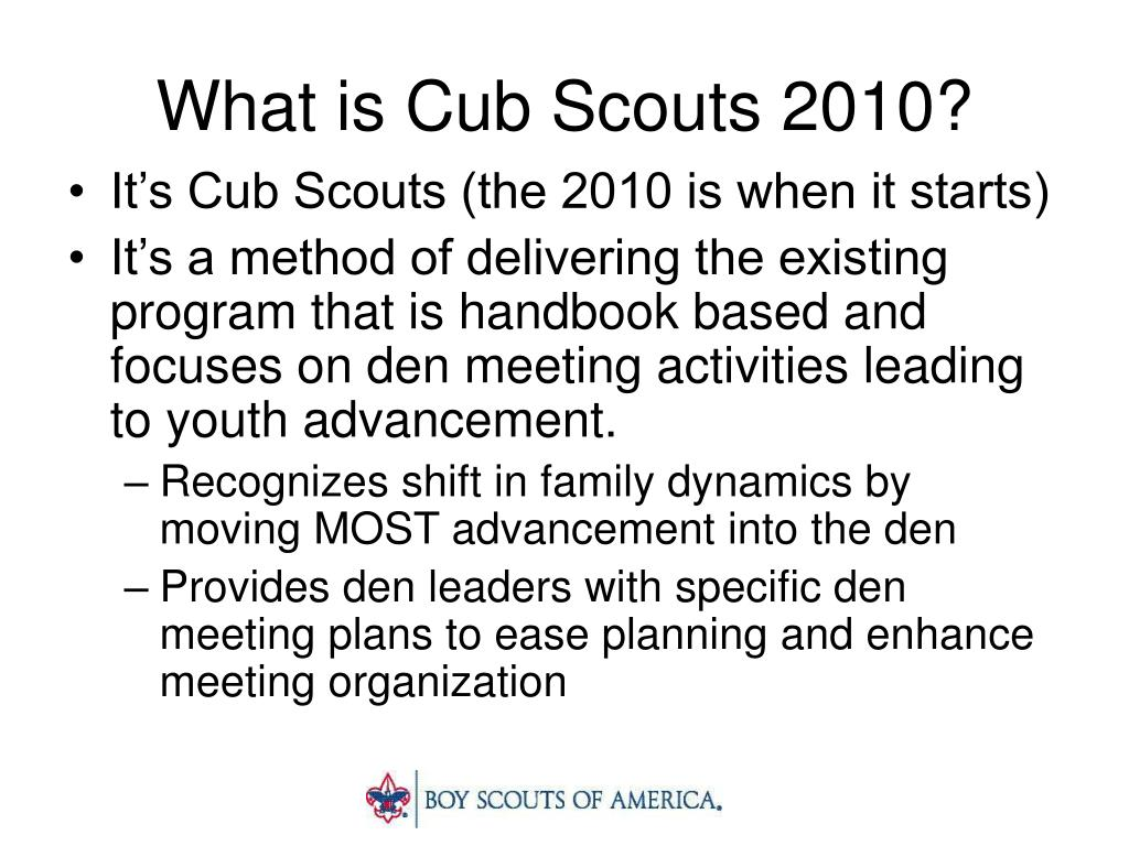 What is Cub Scouts 2010?
