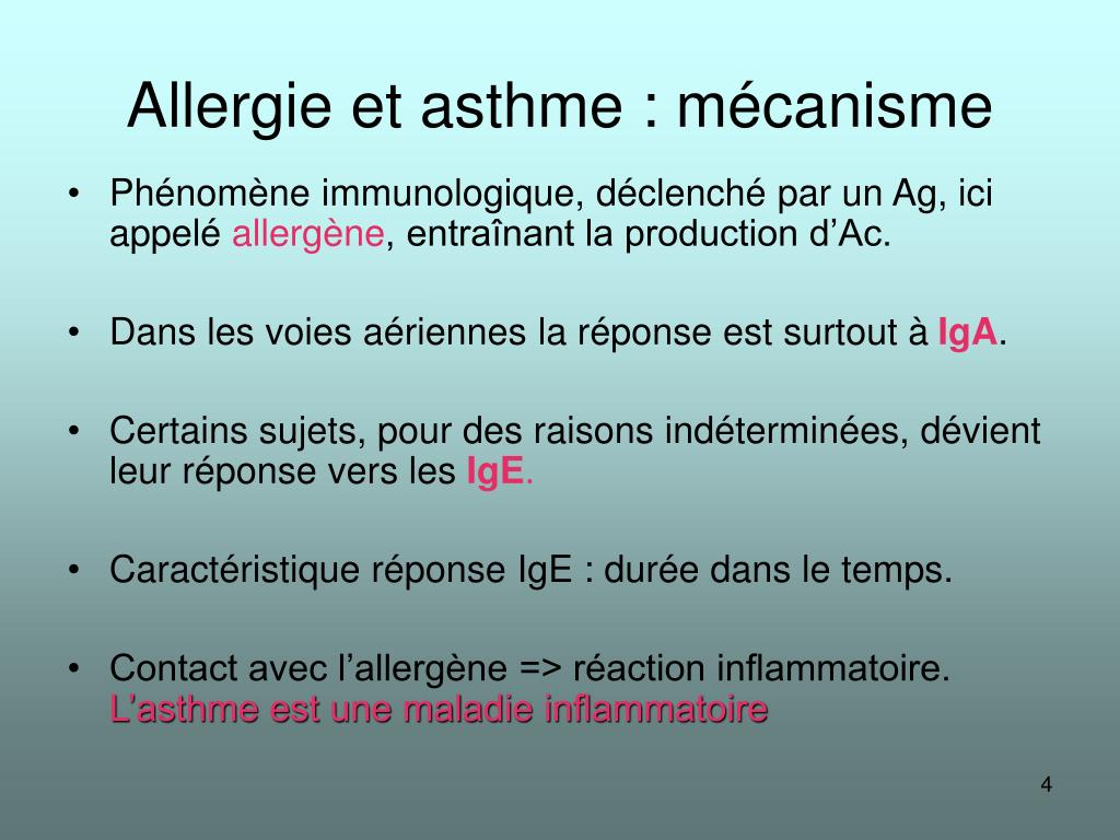 Allergie et asthme : mécanisme
