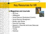 key resources for hr23