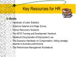 key resources for hr25