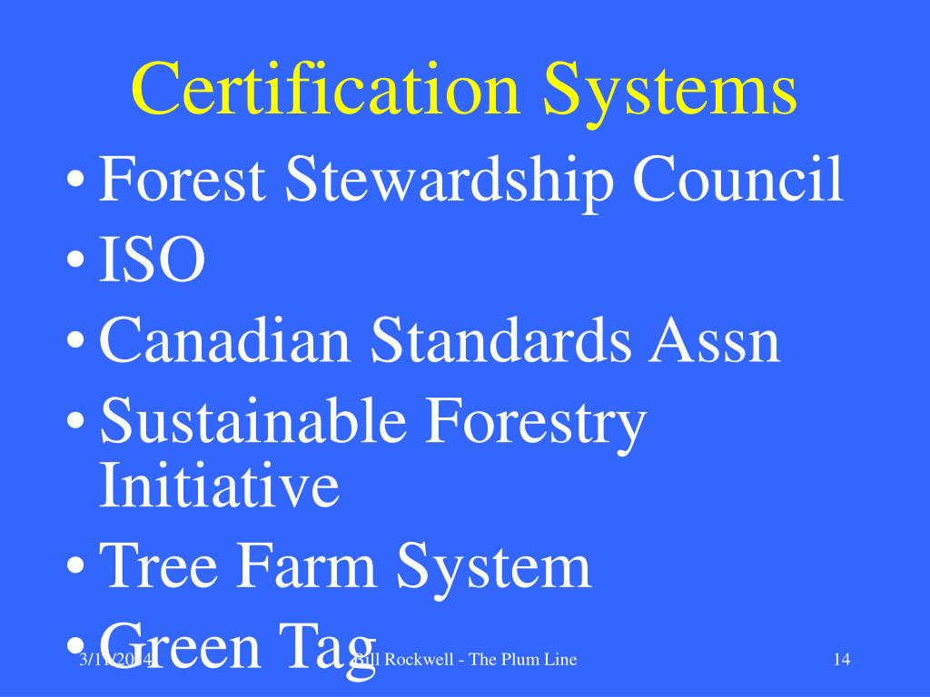 Certification Systems