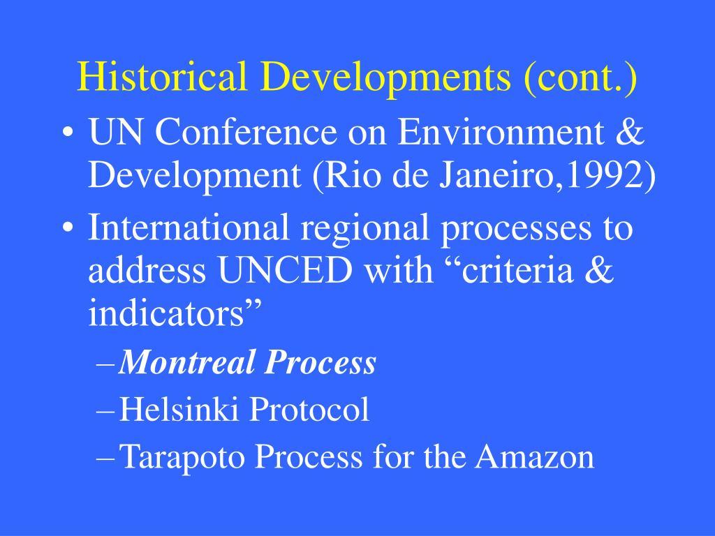 Historical Developments (cont.)