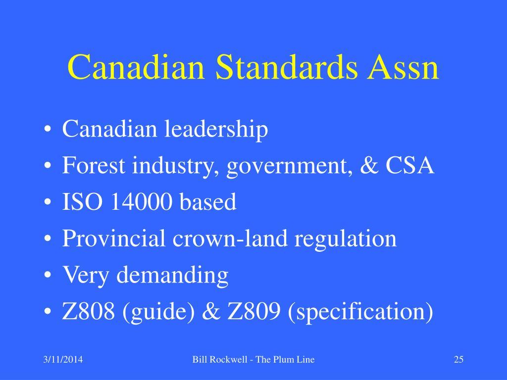 Canadian Standards Assn