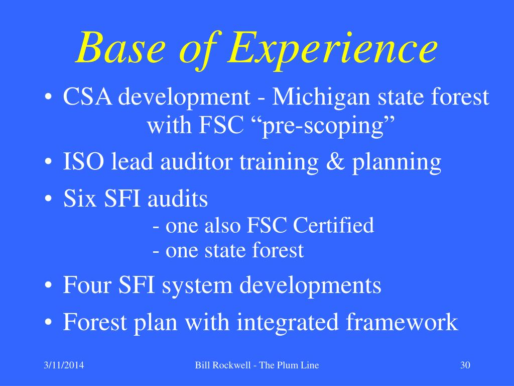 Base of Experience