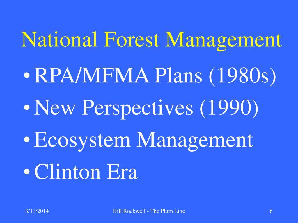 National Forest Management