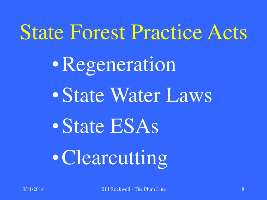 State Forest Practice Acts
