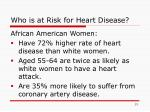 who is at risk for heart disease