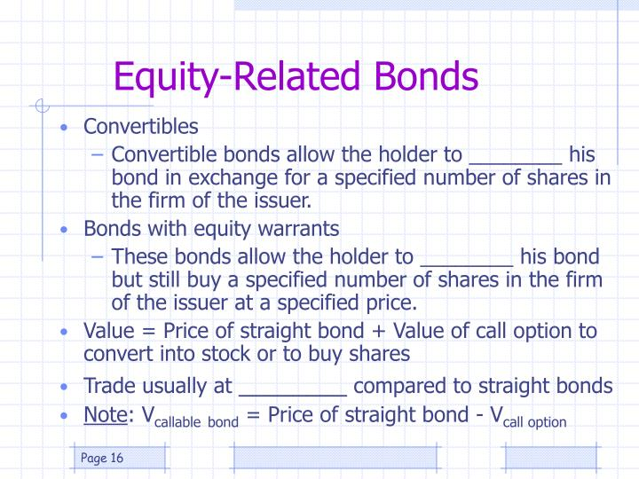 Equity-Related Bonds