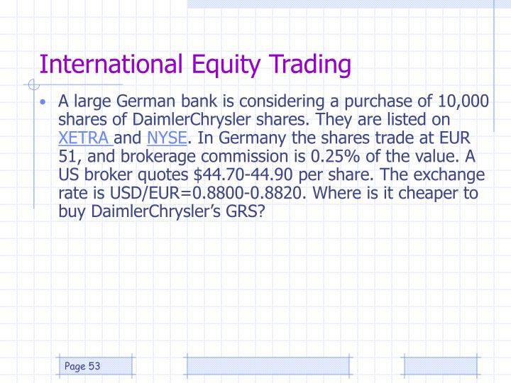 International Equity Trading