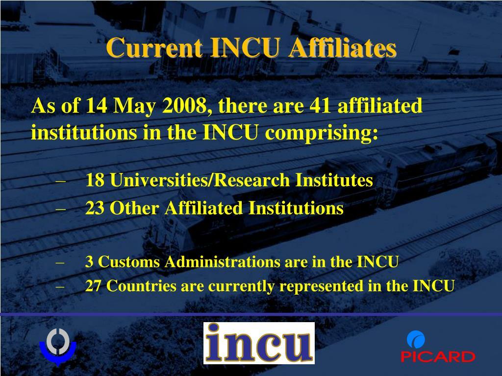 Current INCU Affiliates