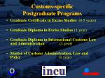 customs specific postgraduate programs