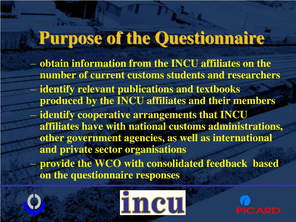 Purpose of the Questionnaire