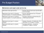 pre budget position10
