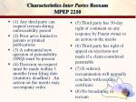 characteristics inter partes reexam mpep 2210