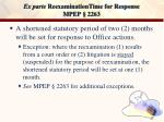 ex parte reexaminationtime for response mpep 2263