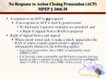 no response to action closing prosecution acp mpep 2666 10