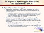 no response to right of appeal notice ran and appeal mpep 2666 10