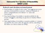 substantial new question of patentability mpep 2242