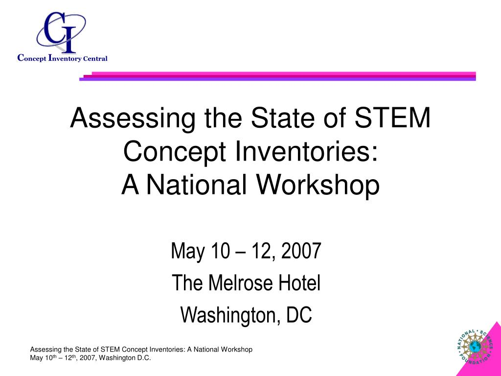 assessing the state of stem concept inventories a national workshop