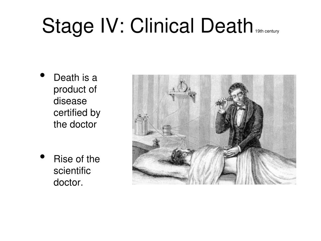 Stage IV: Clinical Death