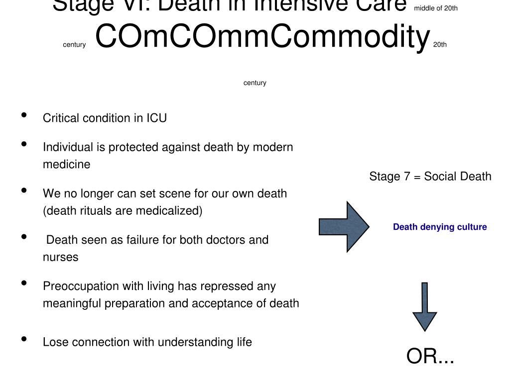 Stage VI: Death in Intensive Care
