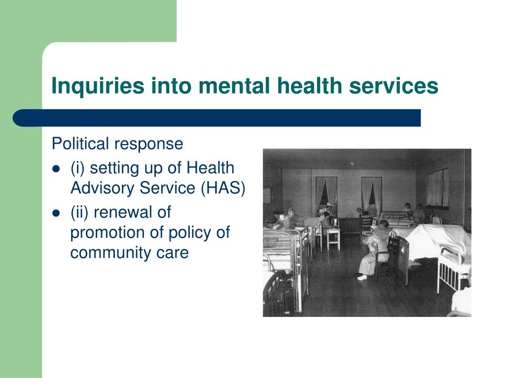 Inquiries into mental health services