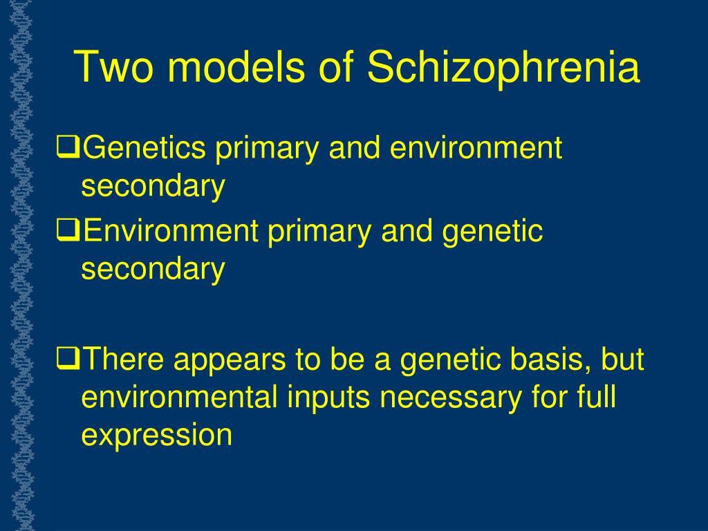 Two models of Schizophrenia