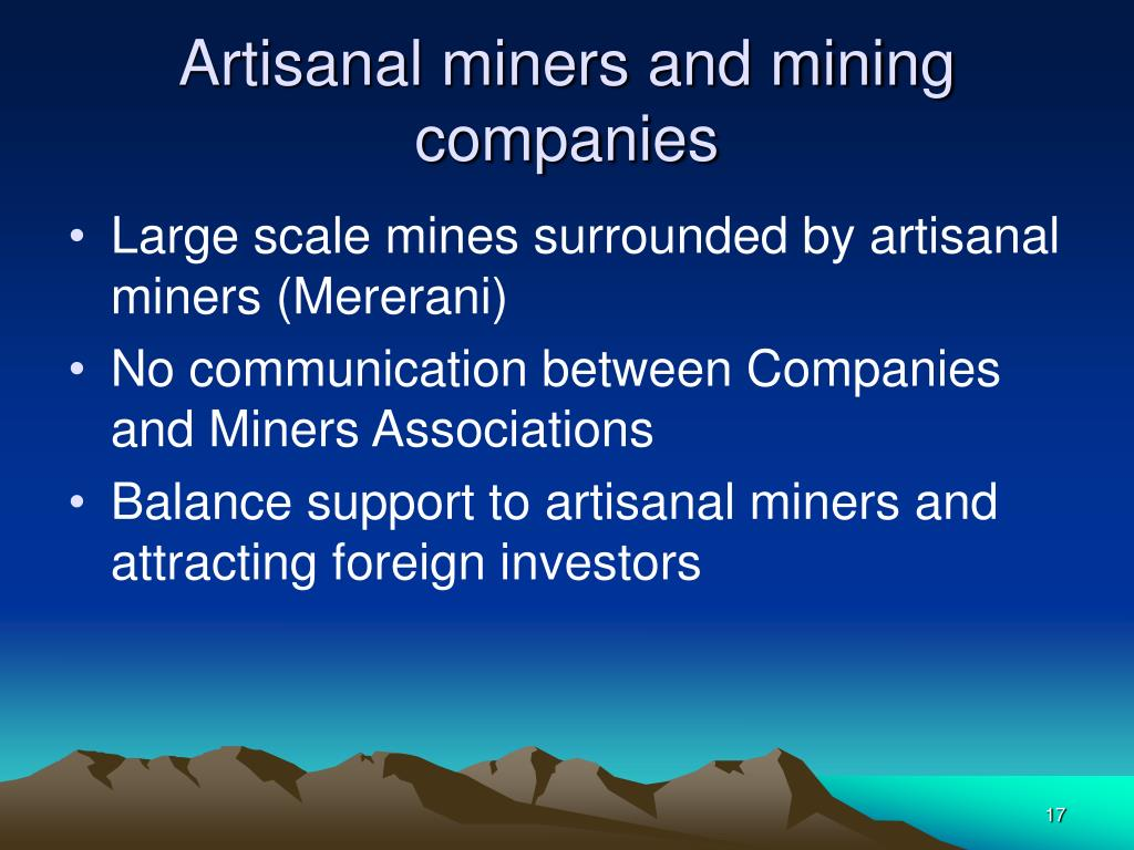 Artisanal miners and mining companies