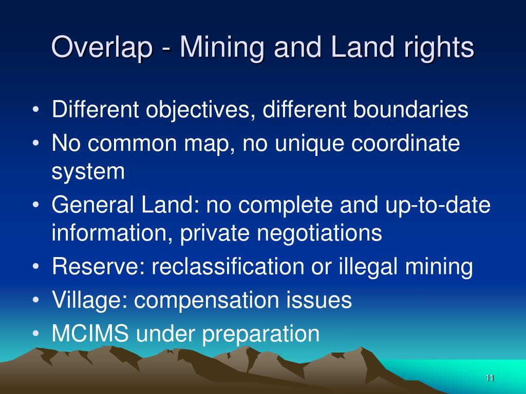 Overlap - Mining and Land rights