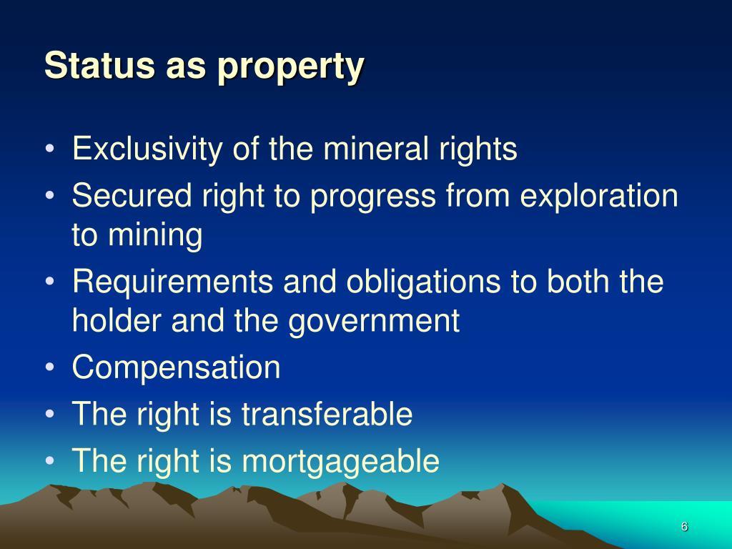 Status as property