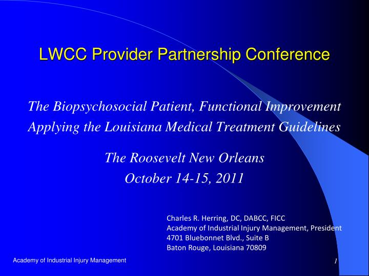 Lwcc provider partnership conference