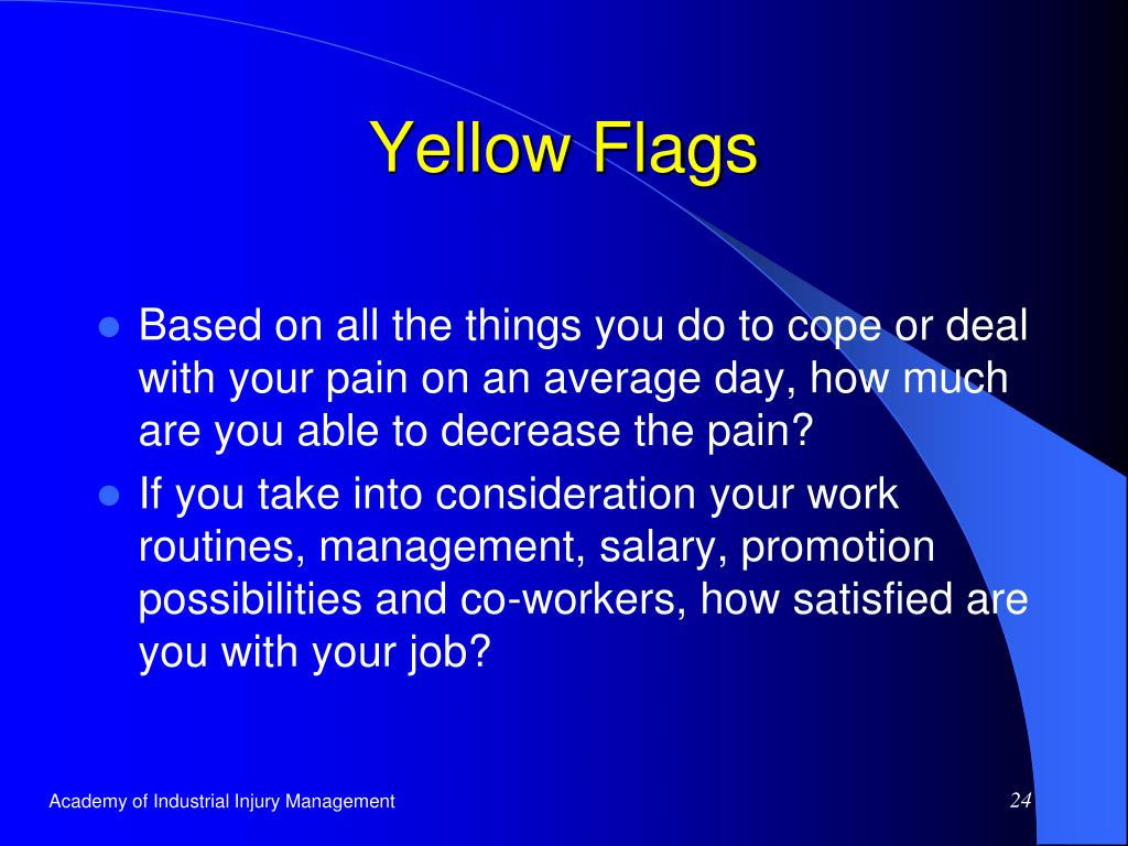 Yellow Flags