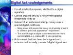 digital acknowledgements