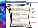 elements of a document