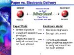 paper vs electronic delivery