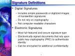 signature definitions