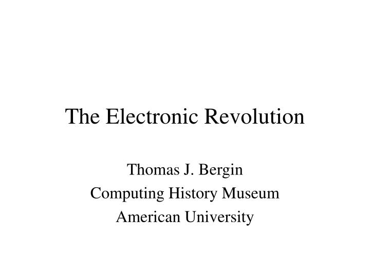 the electronic revolution n.