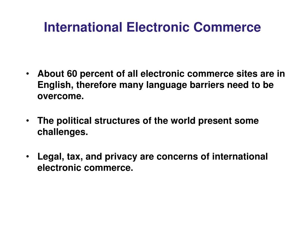 International Electronic Commerce