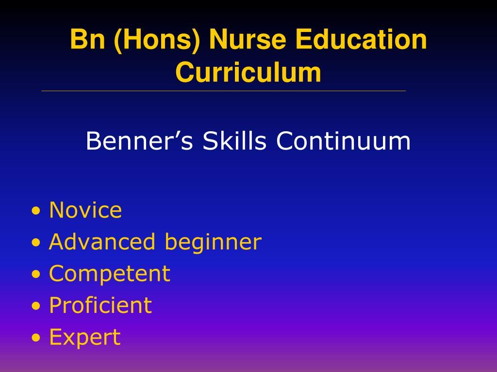 Benner's Skills Continuum