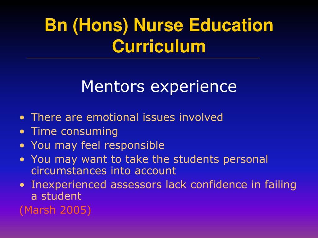 Mentors experience