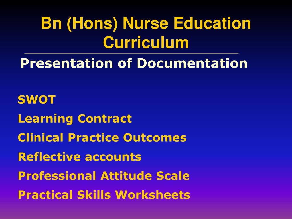 Presentation of Documentation