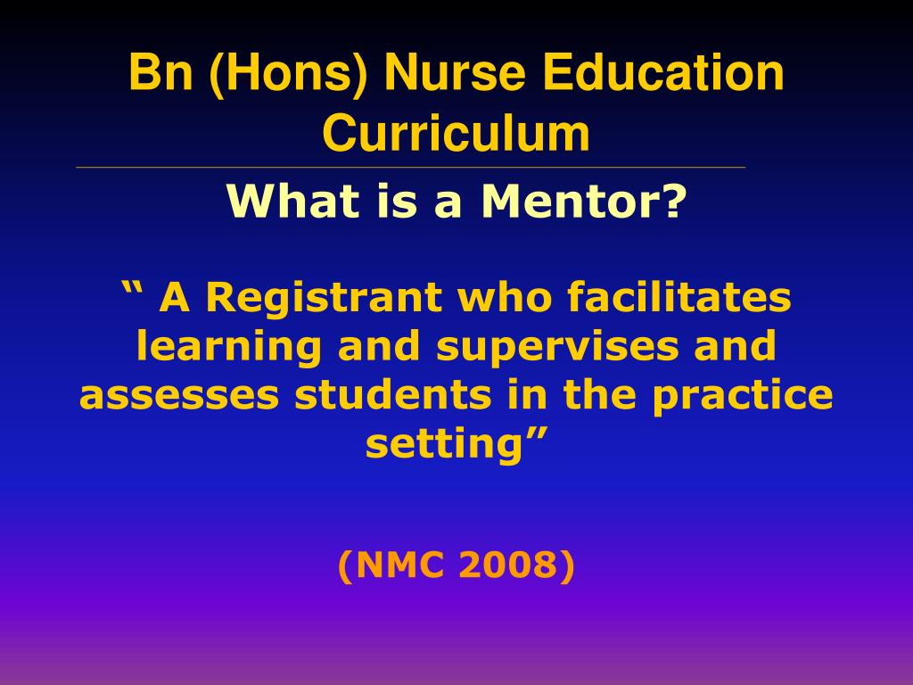 What is a Mentor?