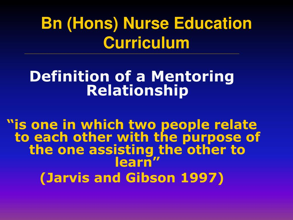 Definition of a Mentoring Relationship
