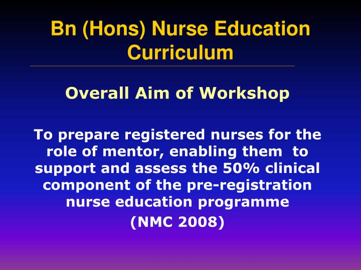 Overall Aim of Workshop